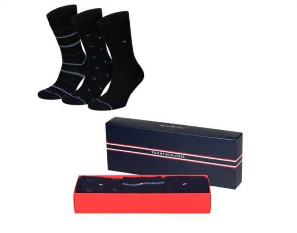 TOMMY HILFIGER Socken Herren 3 Paar Geschenkbox Premium-Socken @MeinPaket.de