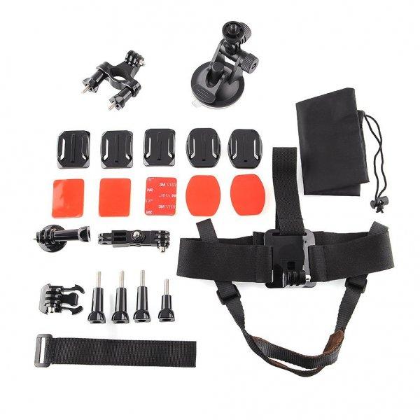 amzdeal® 24tlg Action Cam Zubehör Set für 17,99€ inkl. Versandkosten