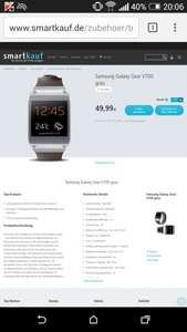 Samsung Galaxy Gear für 49€ + 4,95€ @Smartkauf Black Friday
