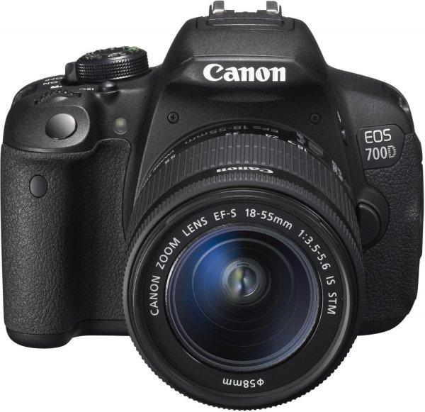 Canon EOS 700D SLR-Digitalkamera Kit inkl. EF-S 18-55mm