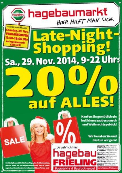 [Lokal Coesfeld] Hagebaumarkt 20 % auf alles am 29.11.2014