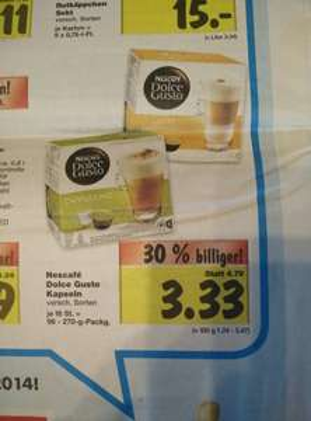 [Kaufland] Dolce Gusto Kapseln 3,33 EUR ab Do 4.12.