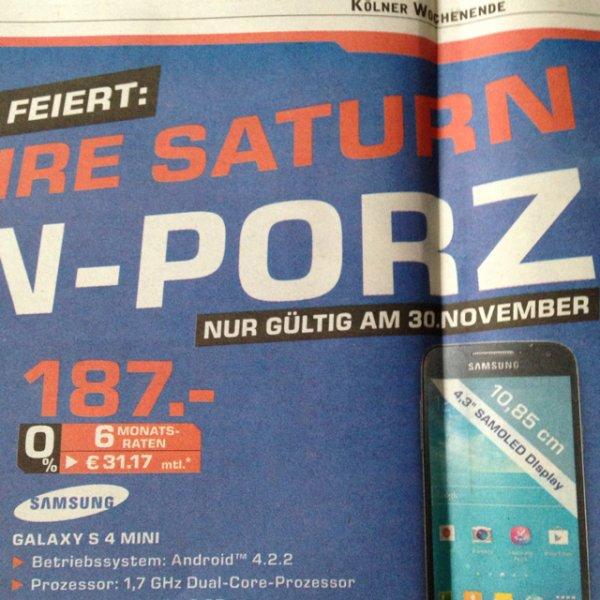 Lokal Saturn Köln Porz, Samsung Galaxy s4 Mini