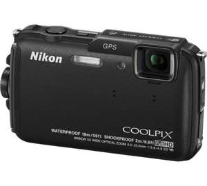 Nikon Cool­pix AW110 Schwarz  (16 Megapixel, 5-fach opt. Zoom, 7,6 cm (3 Zoll) OLED-Display 18m was­ser­dicht + GPS inkl. Vsk für 190,31 € > [amazon.it] > Black Friday Deals