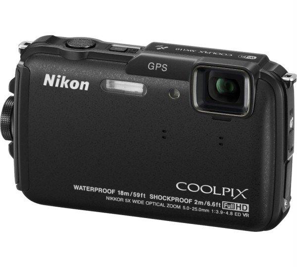 Nikon Coolpix AW110 Schwarz  (16 Megapixel, 5-fach opt. Zoom, 7,6 cm (3 Zoll) OLED-Display 18m wasserdicht + GPS inkl. Vsk für 190,31 € > [amazon.it] > Black Friday Deals