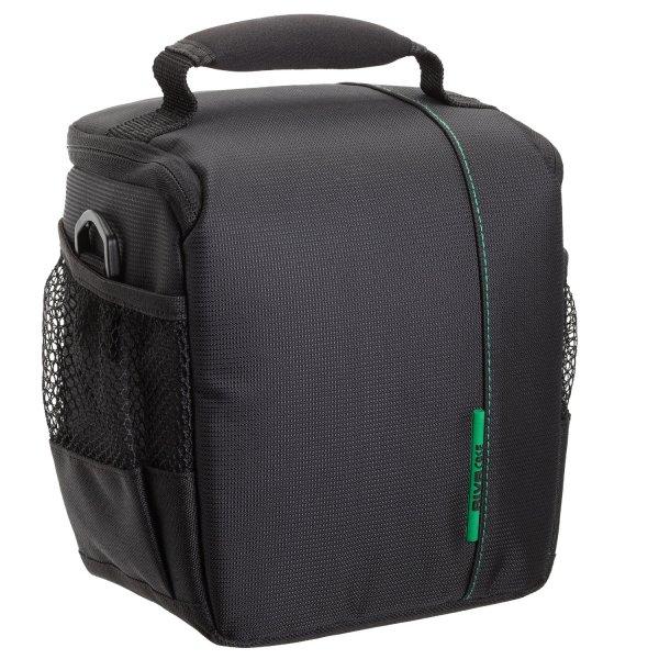 Rivacase RV_7420 hochwertige gepolsterte SLR Foto- Kameratasche für DSLR Kameras schwarz / grün