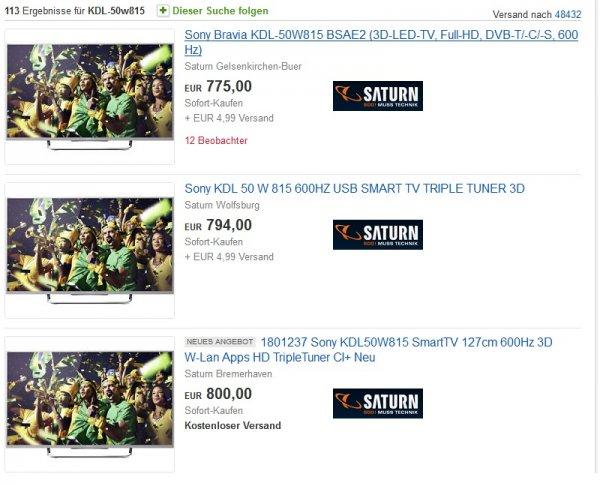 [Saturn eBay] Sony KDL-50W815