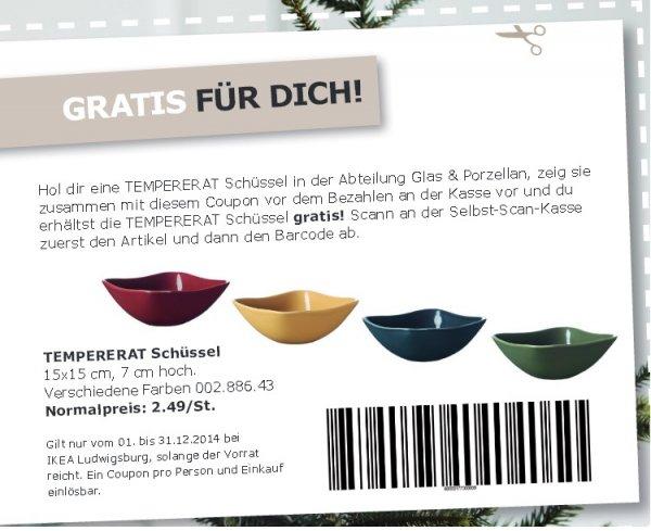 [ IKEA Ludwigsburg ]   TEMPERERAT Schüssel,in versch. Farben  15x15 cm, 7 cm hoch