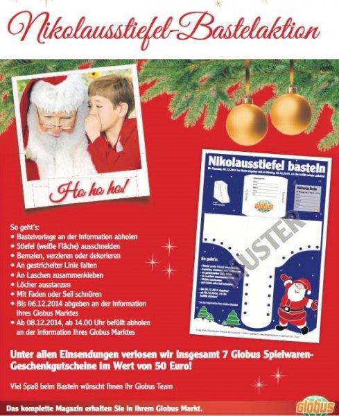 Nikolausstiefel bei Globus kostenlos befüllen lassen