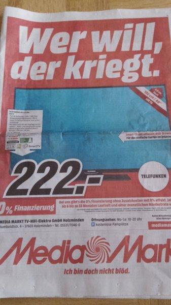(lokal Holzminden Media Markt) Telefunken D40F275R3c für schlanke 222 Euro