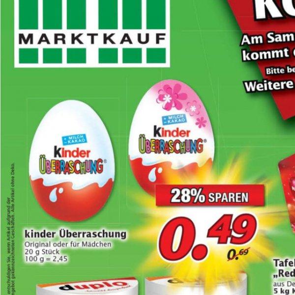Kinderüberraschung  Ü-Ei 0,49€ @ Marktkauf+ Diska
