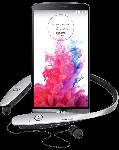 LG G3 mehrwertpaket mit Premium HarmanKordon Bluetooth Headset Gratis