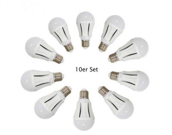 [MeinPaket] XQ-Lite LED-Leuchtmittel 10er Set, E27, 7W, 470lm, 3.000K, EEK A - Für 29,90€