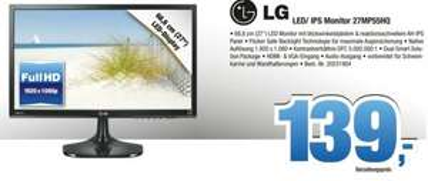 [Lokal - Nord - Expert Benning] LG 27 Zoll 27MP55HQ FullHD Monitor