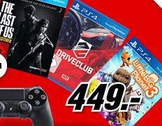 PS4 Konsole mit 3 Spielen in Mediamarkt TV Werbung