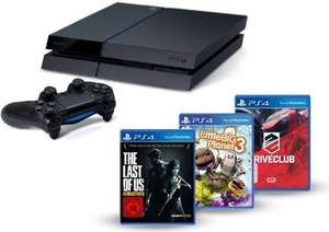 Amazon PlayStation 4 - Konsole inkl. DriveClub, Little Big Planet 3 und The Last of Us: Remastered