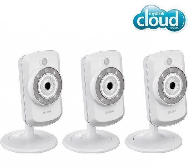 214,89€ D-LINK 3er Set IP-Kameras WLAN-N mydlink DCS-942L - Tag/Nacht [online] pixmania
