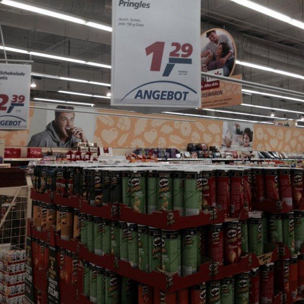 Pringles 190gr Packung bei Real für 1,29€ im Angebot (Normal ca. 2€)