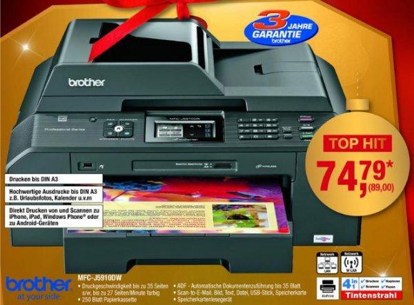 Multifunktionsdrucker Brother MFC-J5910DW für 89 € @ Metro