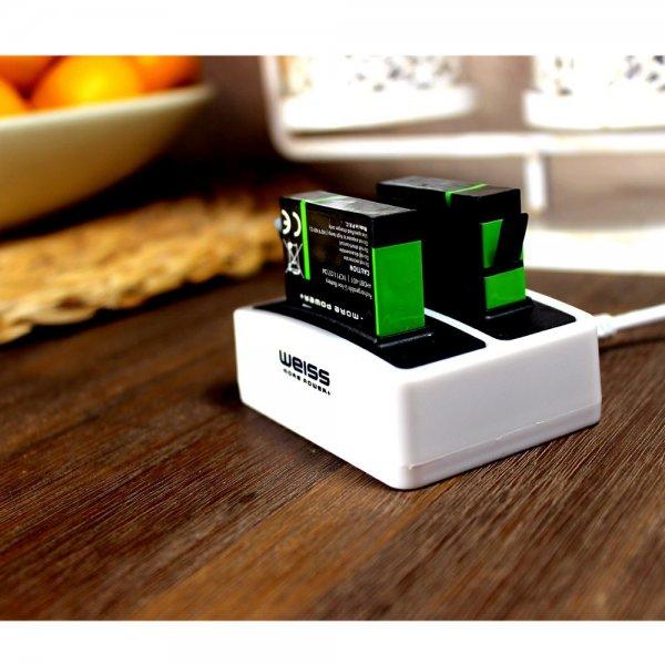 2x Weiss Akku für GoPro 4 + Mini-Ladegerät Dual für 16,49€ @Amazon