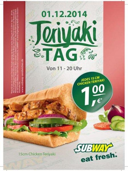 [Lokal] Flensburg 1€ jedes Chicken Teryaki 15cm