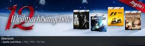 Sony PSN 12 XMAS Angebote - Last of Us, F1 2014, Dynasty Warriors Next PS4 PS3 VITA