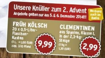 [Lokal Köln] 20x0,5l Kasten Früh Kölsch für 9,99€ am Wochenende