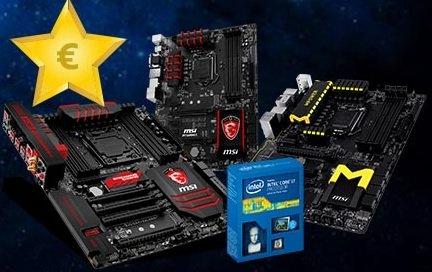 Bundle Cashback: MSI Mainboard + Intel CPU -> 45 - 140 Euro direkt auf's Konto