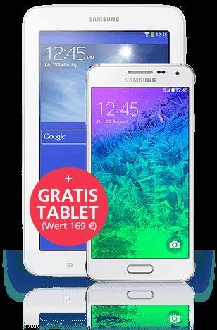 Samsung Samsung Galaxy Alpha + GRATIS Tablet weiss