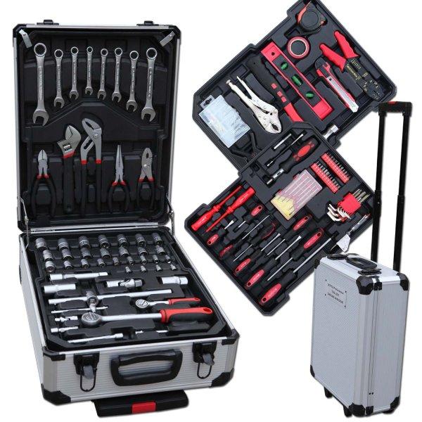207 TLG Werkzeugkoffer CV Schlüsselsätze Alukoffer für 59,95€ @Ebay