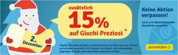 15% auf Giochi Preziosi Produkte (MyToys)
