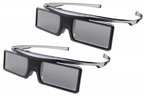 Amazon: Universal GX21AB 3D-Aktiv-Shutterbrillen für Thomson und TCL 3D-Fernseher (Doppelpack, Batteriebetrieb, Game Mode) schwarz