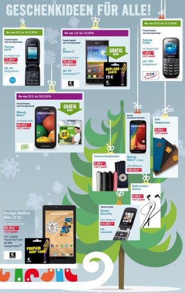 [Phone House] Motorola Moto E + Fyve Prepaid Karte + 15€ Aufladekarte ab dem 22.12 für nur 89€