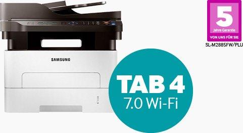 Ausgwählte Samsung Multifunktionsdrucker + Samsung Galaxy Tab