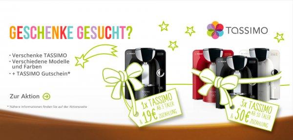 Diverse Bosch Tassimo mit Shop-Gutschein über Jacobs Treueprogramm @beiunszuhause.de (benötigt Taler)