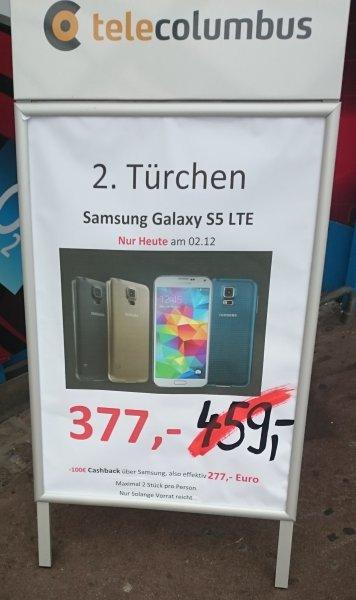 Lokal Kaufpark Eiche Media Markt - Samsung Galaxy S5 LTE 377,00 € - 100,00 € Cashback = effektiv 277,00 €