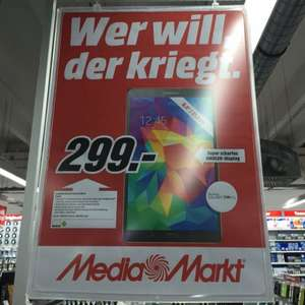 [Media Markt] Samsung Galaxy Tab S 8.4 WiFi für € 299.-