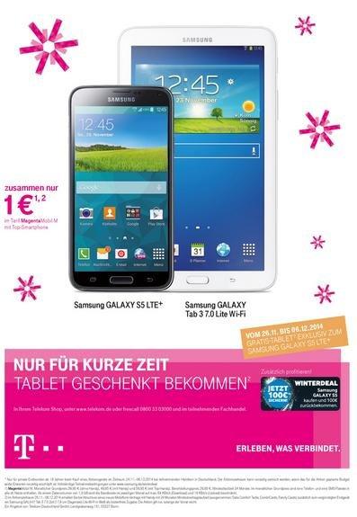 Samsung Galaxy Tab 3 7.0 Lite Wi-Fi Gratis - Telekom Shops und Online 26.11.14 - 06.12.14