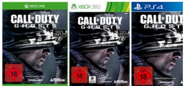 Nur Mittwoch bundesweit (D/AT/CH) bei GameStop : Call of Duty Ghosts (PS4/PS3/PC/ONE/360) neu für 9,99 Euro