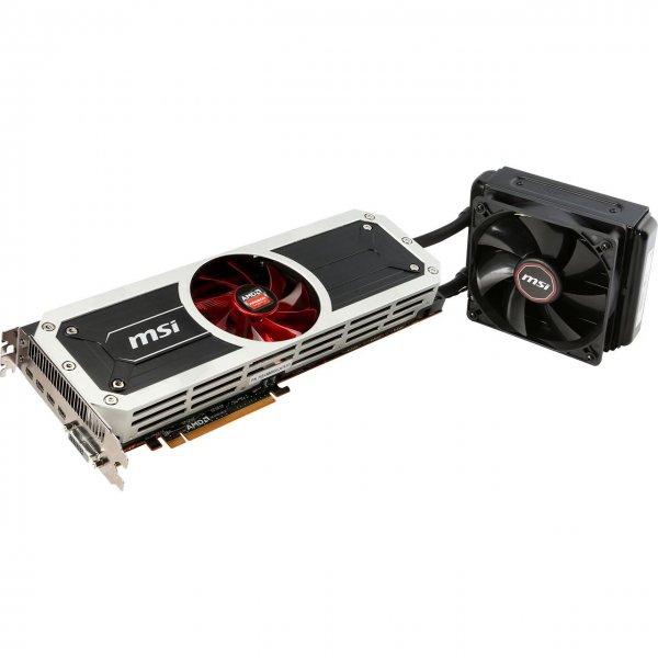 MSI Radeon R9 295x2 - wassergekühlte Dual-GPU-Grafikkarte für 649 Euro (vorher 180€ teurer)