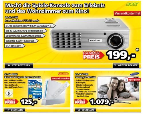 Acer eMachines V100 3D ready Beamer für 199,- € @ comtech.de