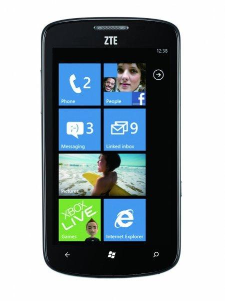 Windows Smartphone ZTE Tania mit großem 4.3 Zoll Bildschirm, GPS und Navi Möglichkeit - nur 39,99€