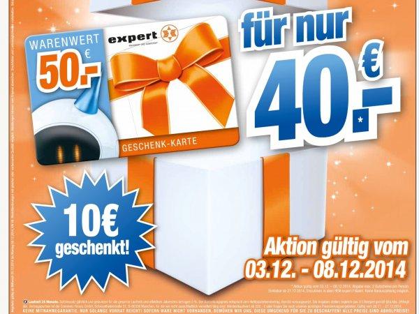 Hem Expert Wiesloch (und andere ?) wieder 50€ Gutscheine für 40€ zu kaufen ab heute 03.12.2014