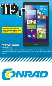 "Archos 80 Cesium 8"" Windows 8.1 Tablet @Conrad"