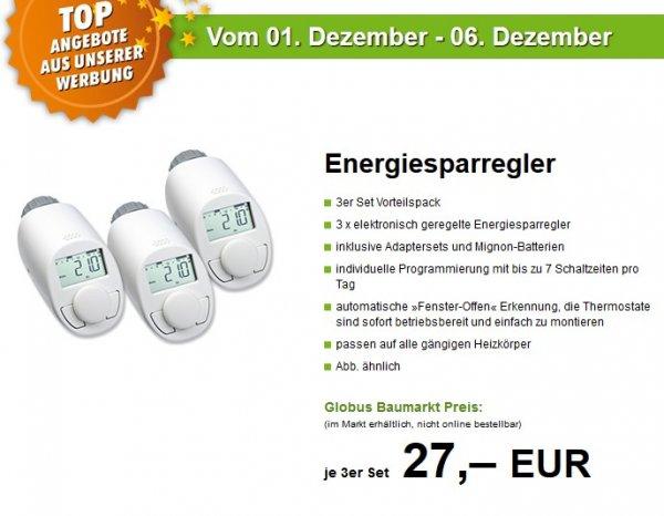 [Lokal] Globus Baumarkt - 3x Heizkörperthermostat Energiesparregler für 27€