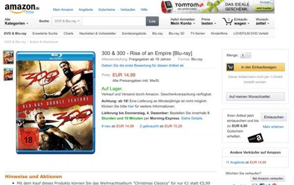 300 & 300 - Rise of an Empire für 14,99€ bei Amazon
