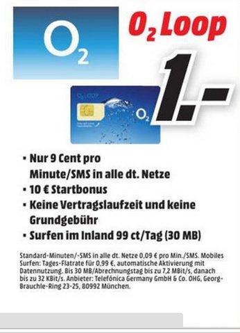 o² Loop Prepaid Karte mit 10€ Startguthaben (PSN möglich) LOKAL @ Mediamarkt (Auswahl im Thread)
