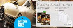 Need For Speed The Run (PS3 oder 360) + 3 T-Shirts