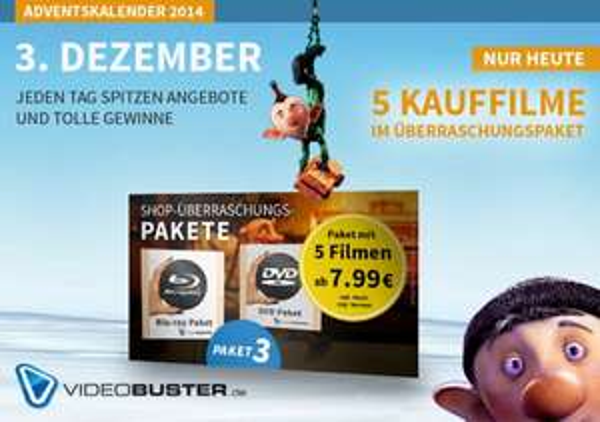 DVD & Blu-ray Überraschungspalete je 5 Blockbuster ab 7,99 Euro