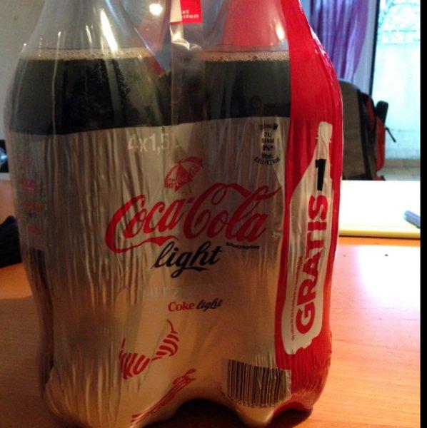 4 x 1,5l CocaCola light für 1,5€. Entspricht 1l = 0,25€!! - Dortmund Innenstadt